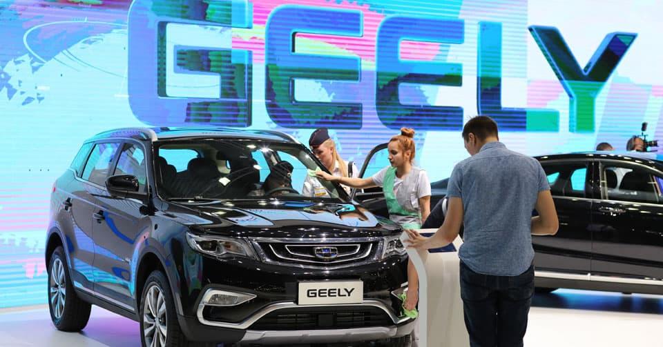 Продажи автомобилей Geely в мире в 2017 году выросли в 1,6 раза